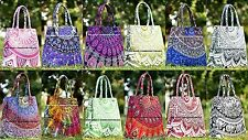 10 PCs Wholesale Handbags Mandala Shopping Shoulder Carry Bag Indian Tote Purse