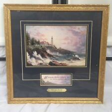Thomas Kinkade Clearing Storms Signed Accent Print Framed With  00004000 Coa 14� x 14.5�