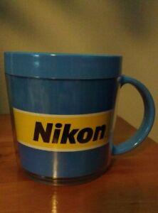 Vintage Nikon Plastic Mug - Eagle, Made in USA - 3.75 inches tall
