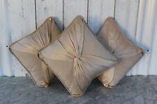 Three Beautiful Oyster 100% Silk Elegant Cushions by Laura Ashley VGC