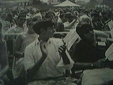 1963 magazine picture - audience newport folk festival