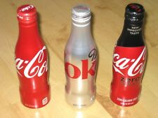3x Coca Cola Alu Flasche/Flaschen Set Coke+Diet+Zero Sugar aus USA/Atlanta *NEU*
