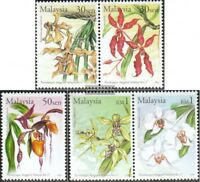 Malaysia 1094-1098 mit Paaren (kompl.Ausg.) postfrisch 2002 Welt-Orchideenkongre