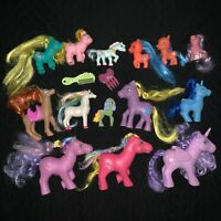 Vintage My Little Pony Lot Unbranded Fakie Ponies Green Flocked Babies Fakies