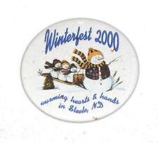 2000 Steele North Dakota Winter Fest Celebration Pinback Button 5