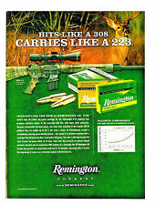 2009 AD THE NEW 30 REMINGTON AR CARTIDGE FOR THE R-15 RIFLE HITS  LIKE A 308
