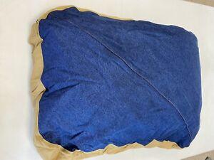 Carhartt Durable Canvas Dog Bed, Premium Pet Water-Repellent Washable Denim Brwn
