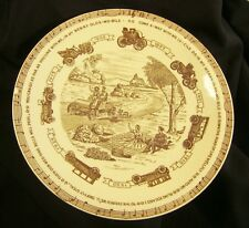 In My Merry Oldsmobile Ceramic Plate Vernon Kilns 1950 Edwards & Bryan FREE Ship