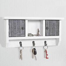 Schlüsselbrett MCW-A48, Schlüsselkasten Schlüsselboard mit Türen, shabby grau