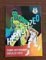 Giannis Antetokounmpo Panini NBA Hoops 2020-21 Hipnotized Card #19