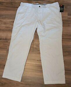 Under Armour UA Golf Straight Leg Pants White 1309545-100 Men's Sz 42x30