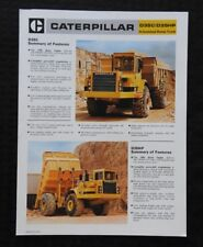1985 CATERPILLAR D35C D35HP ARTICULATED DUMP TRUCK CATALOG SALES BROCHURE NICE