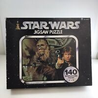 Star Wars Jigsaw Puzzle 1977 *Complete* Han & Chewbacca 40100 /140 Pieces Kenner