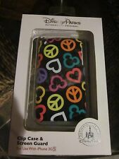WDW DISNEY PARKS MICKEY PEACE AND LOVE iPHONE 3GS CLIP CASE AND SCREEN GUARD NEW