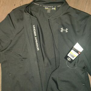Under Armour Black Zipped Mens Lightweight Jacket MEDIUM