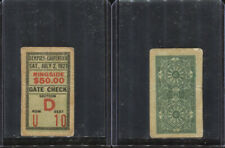 1921 Jack Dempsey Georges Carpentier Ringside Ticket Stub 7/2/1921