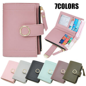 Womens Short Wallet Small Money Purse Ladies Leather Folding Coin Card Holder BL