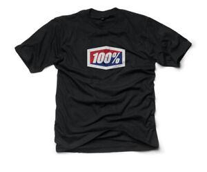 100% MX Motocross OFFICIAL Short Sleeve T-Shirt (Black) L (Large)