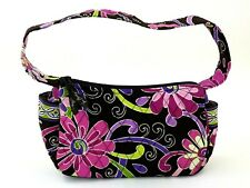 Vera Bradley Maggie Zipper Shoulder in Purple Punch Floral Pattern Retired NWOT