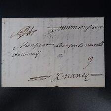 1722 LETTRE COVER MARQUE POSTALE D'AMIENS (FRAPPE A SEC) POUR NANCY