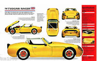 TVR TUSCAN SPEC SHEET IMP Brochure: 1988,1989,1990,.......... 4.4 L Race Car