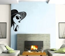 Wall Sticker Vinyl Decal Beautiful Girl in Hat Fashion Style Glasses ig1267