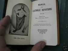 MANUAL OF CATHOLIC DEVOTIONS-POCKET PRAYER BOOK-1939-NM