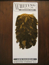Fly Tying Whiting Brahma Hen Saddle March Brown #B