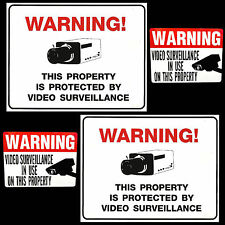 LOT OF ZOOM SPY SECURITY VIDEO SURVEILLANCE IN USE CAMERA WARNING SIGNS+STICKER