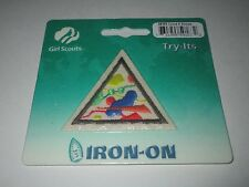 Girl Scout Brownie Iron On Badge ~  Colors & Shapes #59163 **NEW**