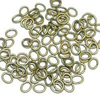 M467 Antiqued Gold 6mm Oval Jumpring 18-gauge Plated Brass Metal Wire 100pc
