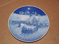 Bing and Grondahl B & G 1969 Christmas Plate Denmark Copenhagen
