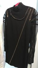 Jean Paul Gaultier Runway Black Tunic Dress With Zippers NWT