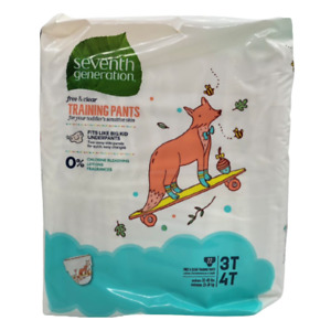 Seventh Generation Free & Clear Training Pants Size 3T-4T - 22 ct
