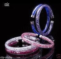 Original CDE Luxus Stardust Armband mit Swarovski Kristallen Armreif Edelstahl