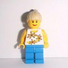 Lego City Figur (cty130), Frau (Blumen-Shirt) mit beigen Haaren, aus 8401