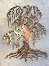 Weeping Willow Tree Copper Patina Metal Wall Art
