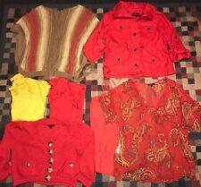 AK Anne Klein Clothes Lot Womens Size Medium Large Shirts Tops Jacket Cardigan +