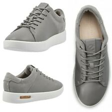 NEW $160 ECCO Corksphere Women's Casual Leather Sneakers Grey Size US 10/EU 41