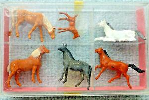 Preiser 4150, verschiedene Pferde, H0, 1:87, in ungeöffneter OVP