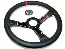 Sparco Steering Wheel - L575 (350mm/63mm Dish/Leather)