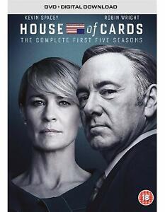 HOUSE OF CARDS COMPLETE SEASONS 1-5 DVD BOXSET 20 DISCS 1 2 3 4 5  REGION 4