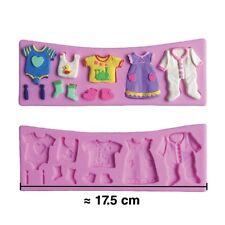 Moule silicone 3D Vêtements pour pâte à sucre, cake design, décoration