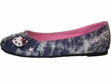 Girls Hello Kitty Ballerina Style Pump Shoe Denim