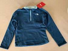 The North Face Glacier 1/4 Zip Lightweight Fleece Girls Blue/Teal Size XS/6