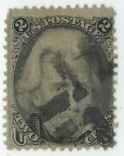 "US Sc# 85b USED E ""Z GRILL  BEAUTY 2c BLACK JACK FROM 1867 CV$ 1,300.00"