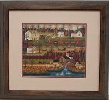 Honey Pumpkin Valley by Charles Wysocki framed rural pumpkin farming landscape