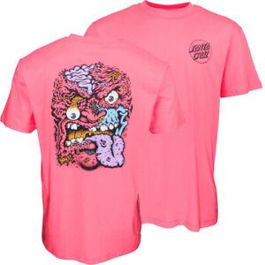 SANTA CRUZ - Rob Roskopp Face 2 Tee - Skateboard T Shirt - LARGE - OCRHID PINK