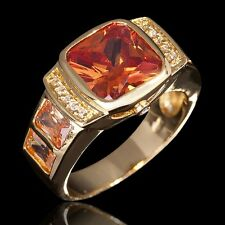 Fashion Jewelry Size 8 For Mens 18k Gold Filled Topaz Engagement  Gorgeous Ring