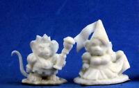 1 x PRINCESSE ET ROI SOURIS - BONES REAPER figurine miniature jdr mousling 77286